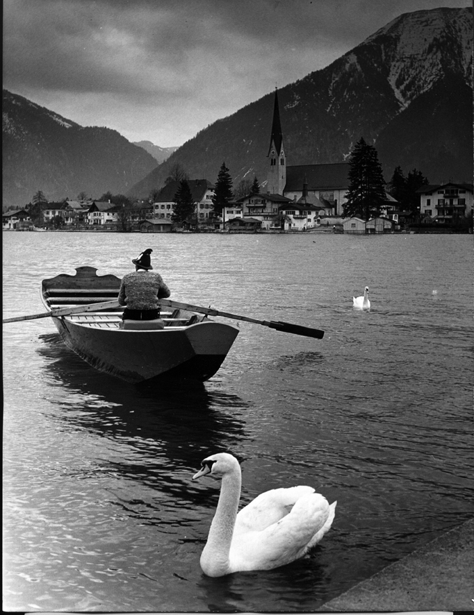 Ruderboot am Tegernsee